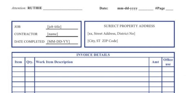 Weekly Invoice Template Open Office