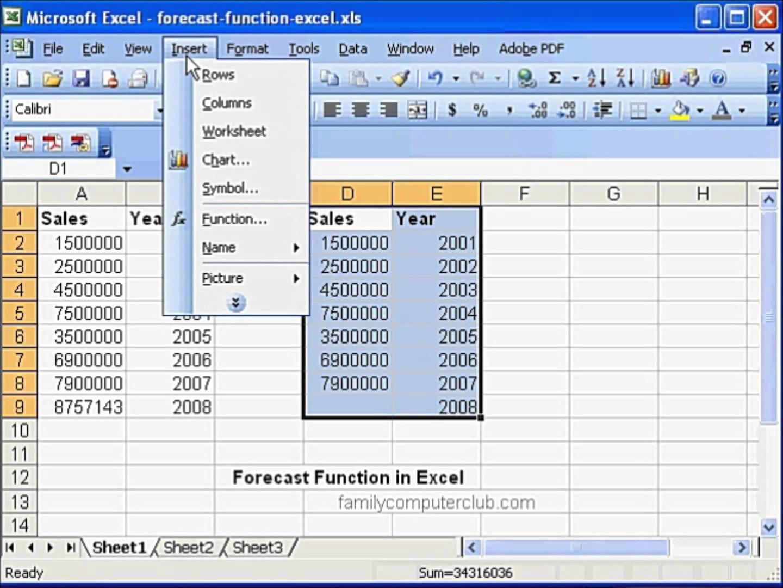 Sales Forecast Spreadsheet Template — excelxo.com