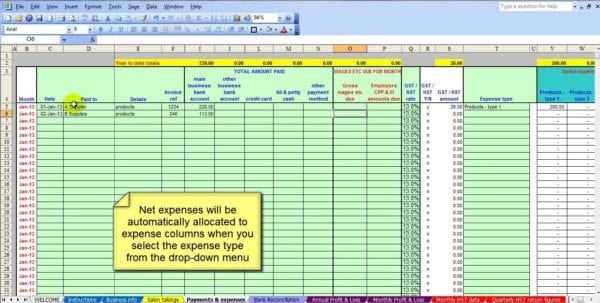 Business Spreadsheet Of Expenses And Income Accounting Spreadsheet Template Spreadsheet Templates for Business