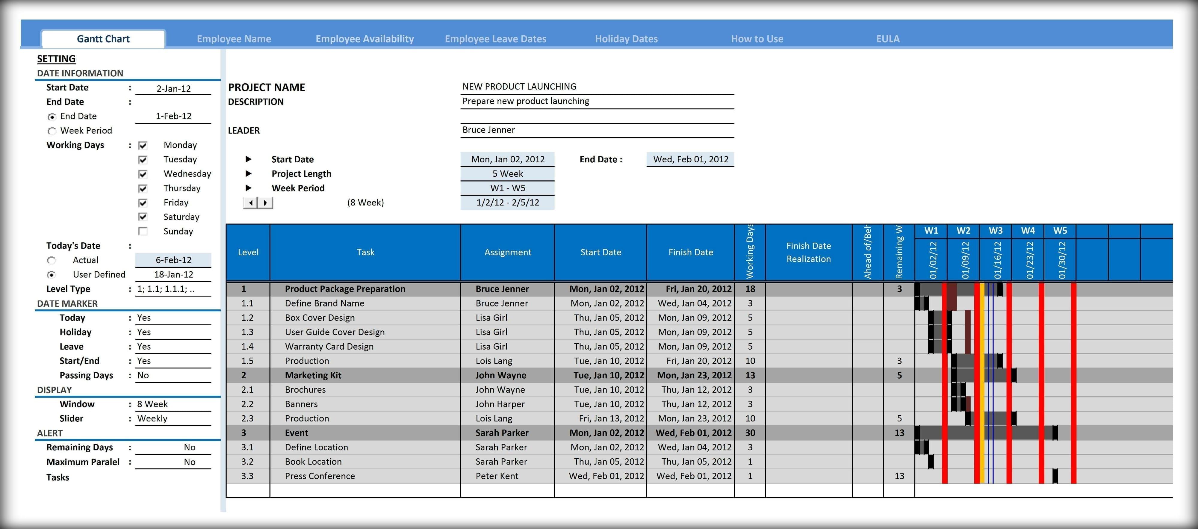 Excel 2010 Gantt Chart Template Excel Spreadsheet Gantt Chart Template Spreadsheet Templates for Busines Spreadsheet Templates for Busines Project Management Gantt Chart Excel