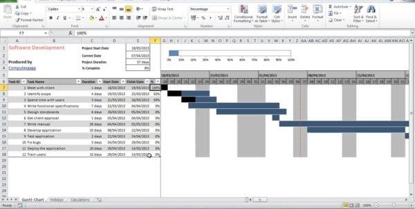 Excel Gantt Chart Template With Dependencies Excel 2010 Gantt Chart Template Free Gantt Chart Template Excel 2013 Gantt Chart Template Microsoft Office Gantt Chart Excel Templates 2010 Excel Gantt Chart Template Conditional Formatting Gantt Spreadsheet Excel Sample