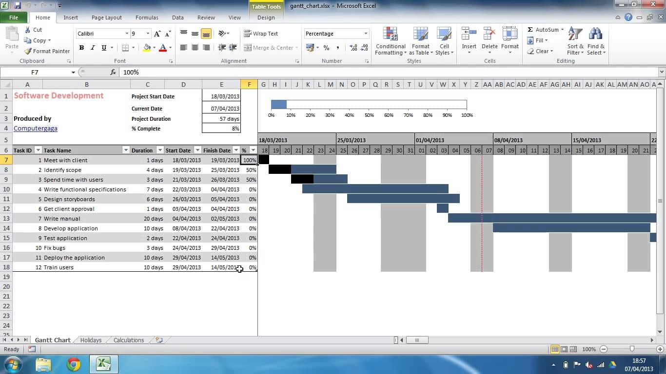 Free Gantt Chart Template Excel 2013 Excel Spreadsheet Gantt Chart Template Spreadsheet Templates for Busines Spreadsheet Templates for Busines Gantt Spreadsheet Excel Sample