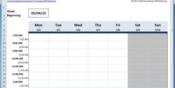Free Work Schedule Maker Weekly Schedule Template Excel And Time Management Schedule Templates For Employees Weekly Schedule Templates For Employees Template Schedule Monthly Monthly Schedule Template Excel Employee Schedule Maker