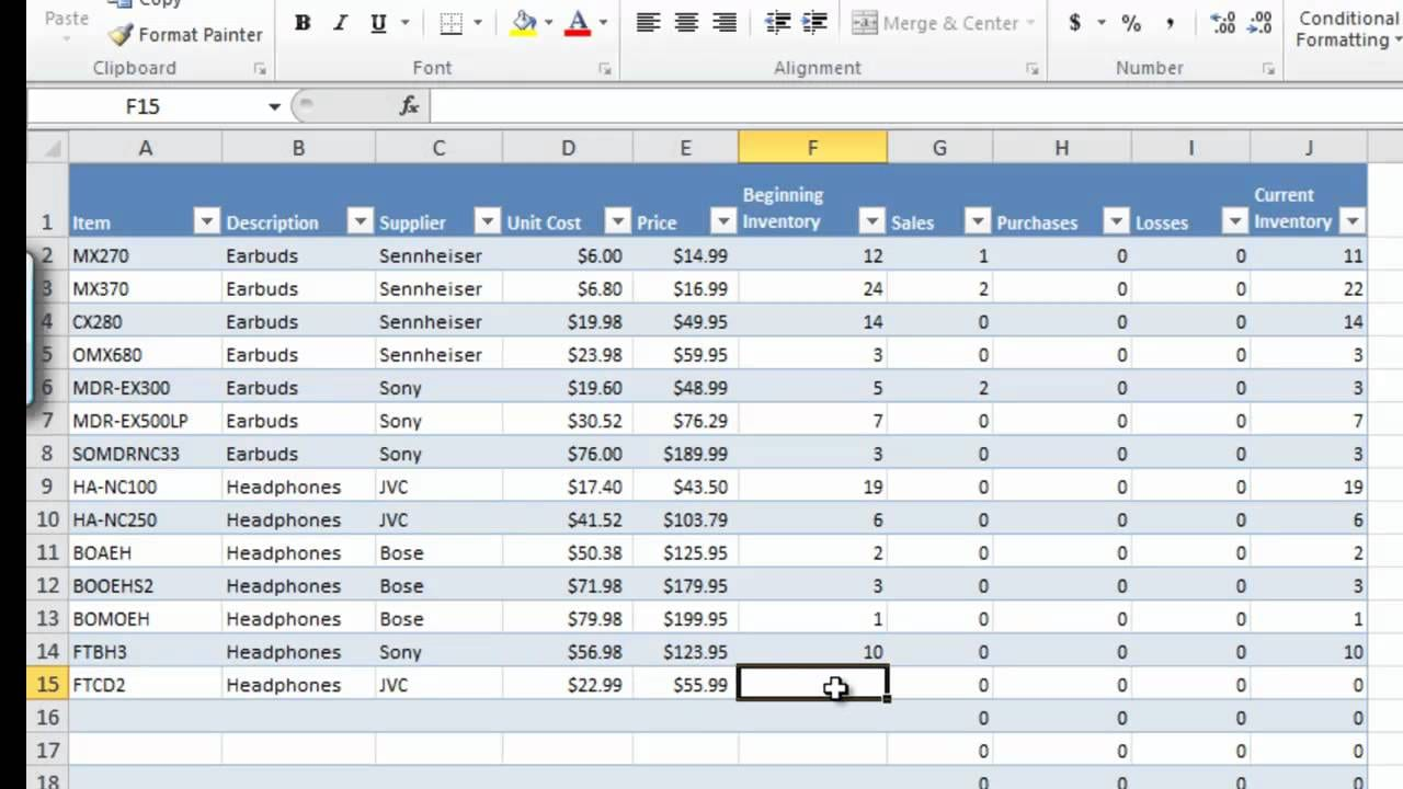 How To Manage Inventory With Excel Inventory Tracking Spreadsheet Template Free Spreadsheet Templates for Busines Spreadsheet Templates for Busines Inventory And Sales Manager With Excel Template
