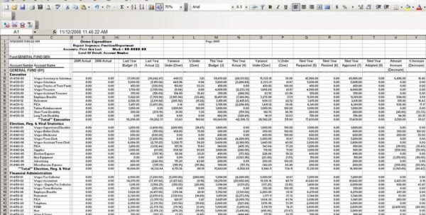 Small Business Bookkeeping Template 1