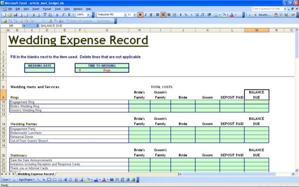 Small Business Expense Report Template