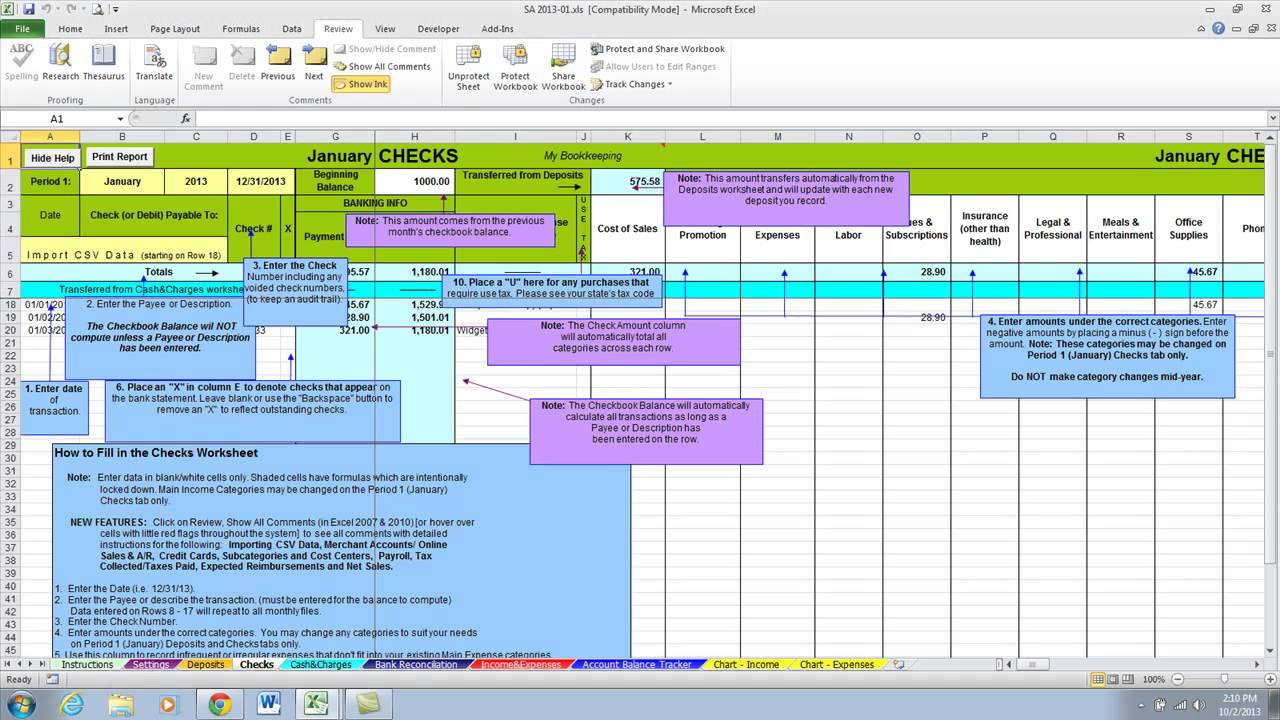 Accounting In Excel 2007 Template