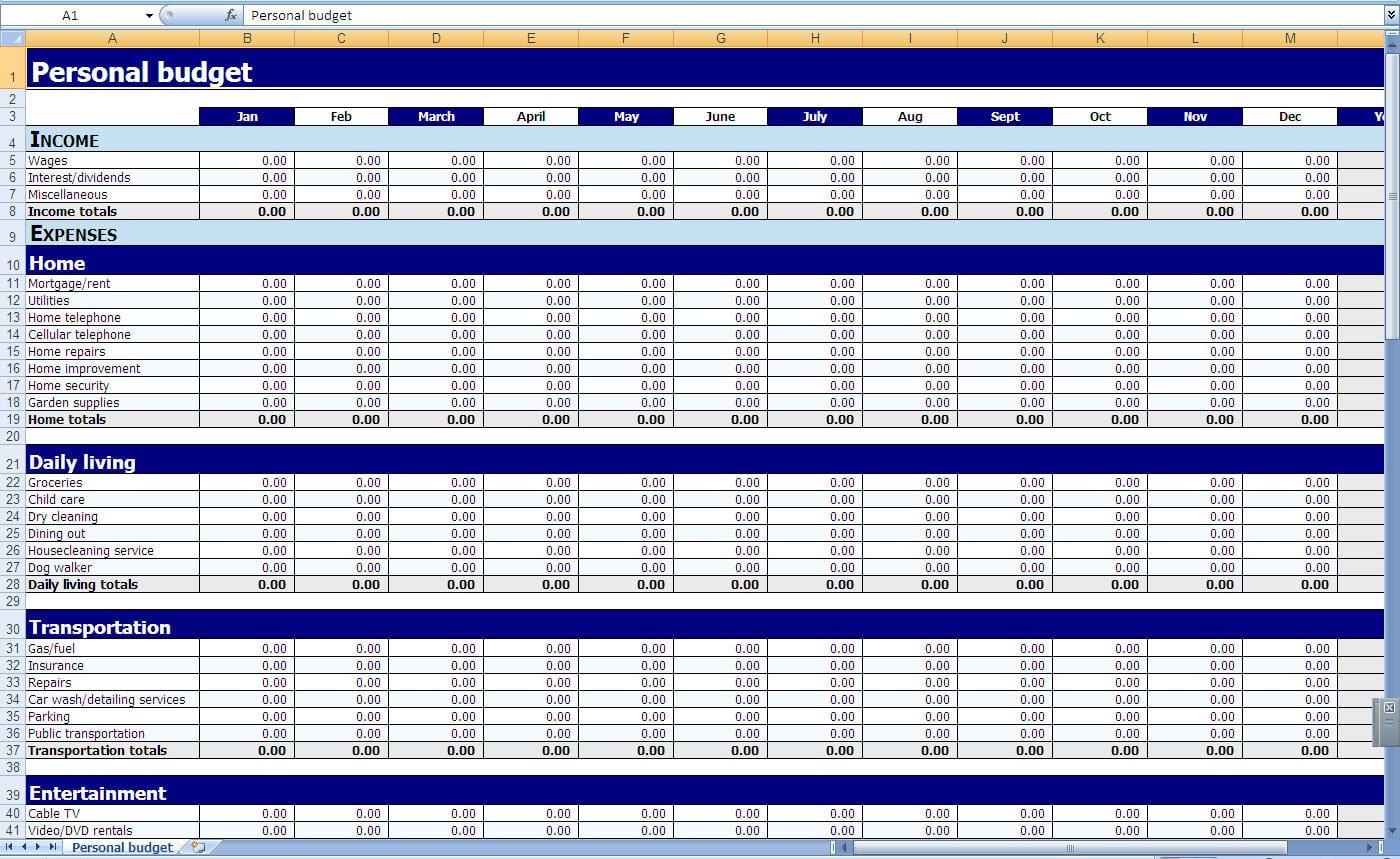 Best Personal Finance Spreadsheet