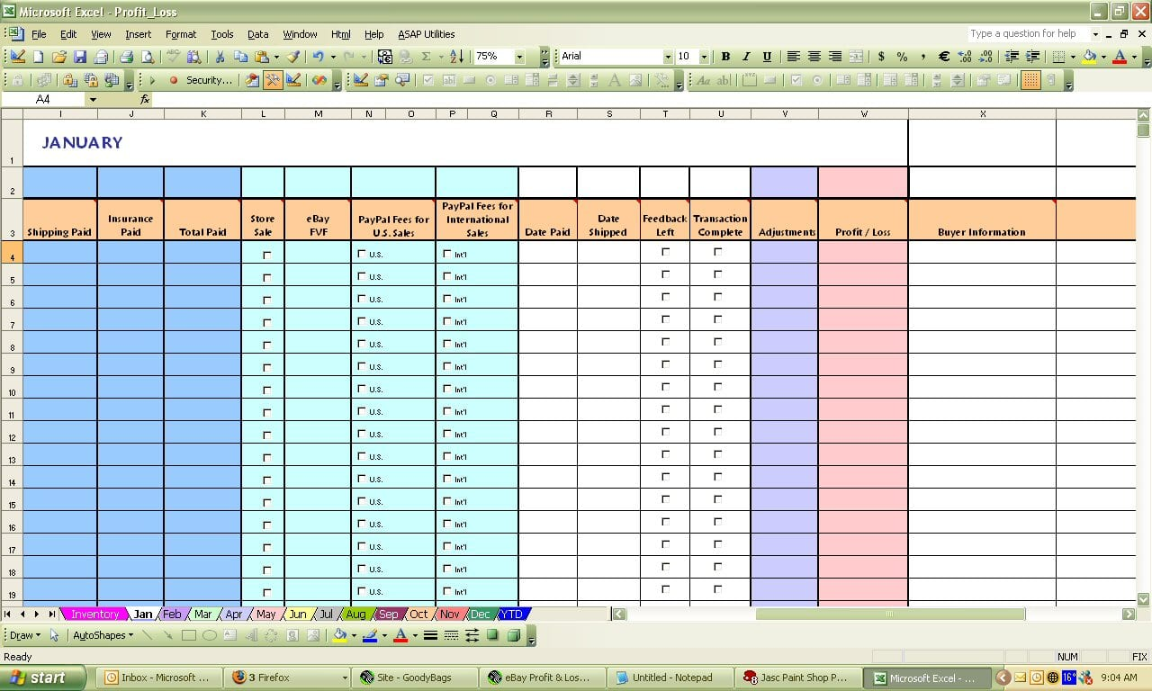 Cara Menghitung Profit And Loss Perusahaan Profit Loss Spreadsheet Template Spreadsheet Templates for Busines Spreadsheet Templates for Busines Excel Profit Loss
