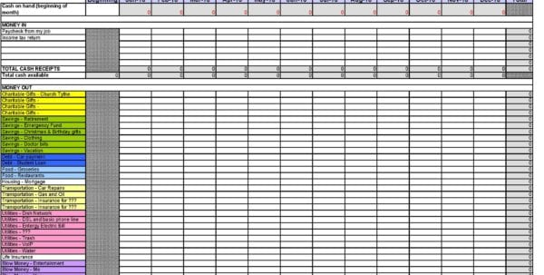 Excel Expense Tracker Template