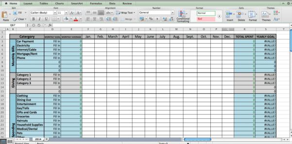 Excel Home Remodel Template