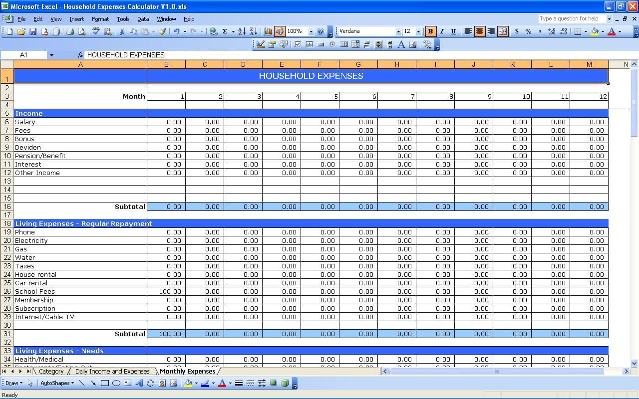 Excel Profit And Loss Formula 1