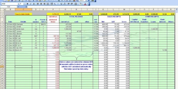 Free Accounting Spreadsheet Templates For Small