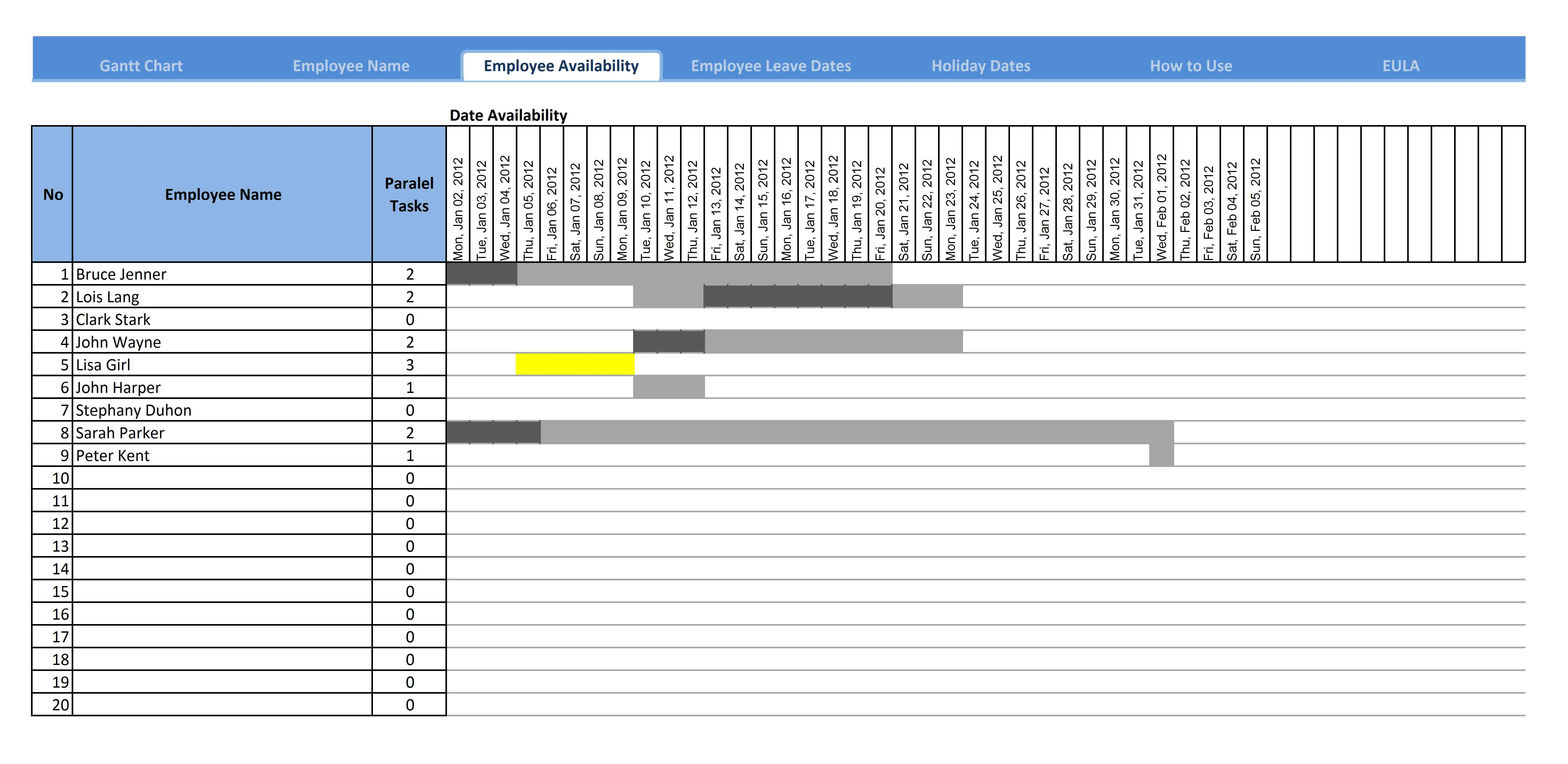 Gantt Chart Excel 2010 Download