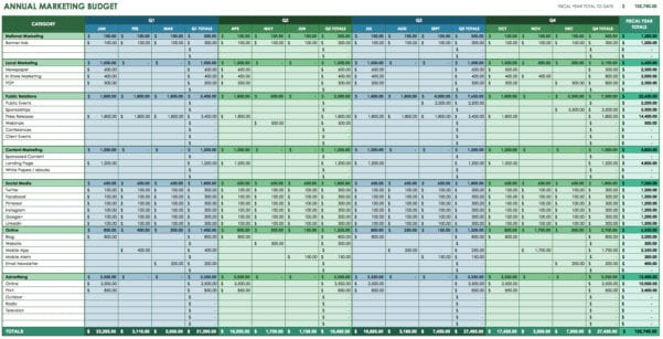Monthly Expense Template Excel