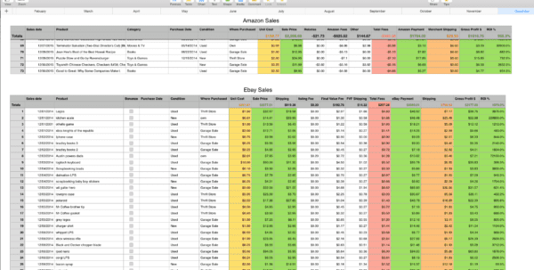 Retail Inventory Spreadsheet Template