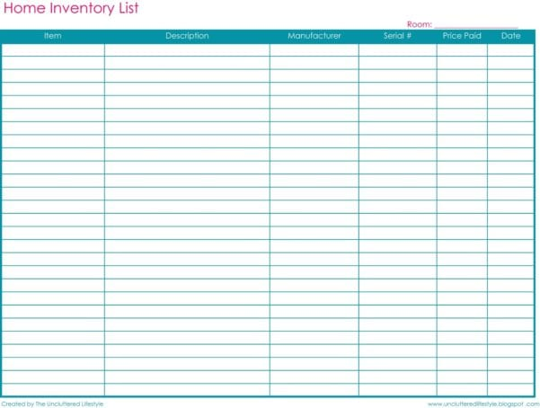 Small Business Inventory Spreadsheet Template 2