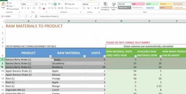 Small Business Inventory Spreadsheet Template 3