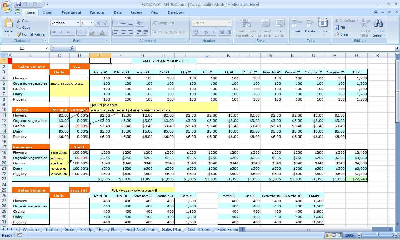 spreadsheets for small business bookkeeping