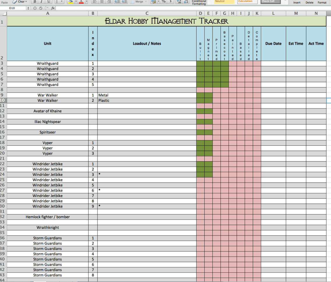 Tracking Spreadsheet Template Excel