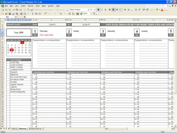 Weekly Schedule Template Excel And Time Management
